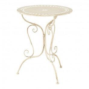 Cream Wrought Iron Tables
