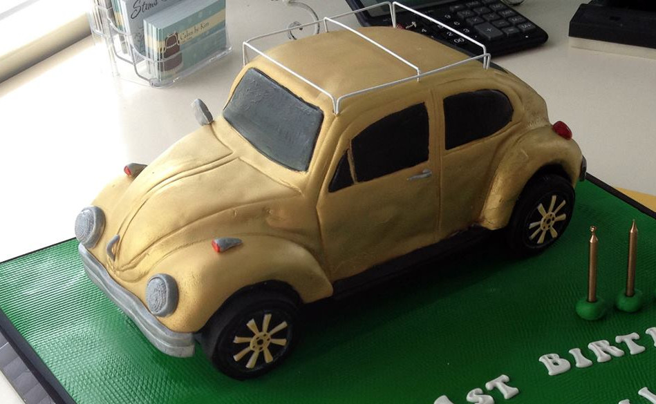 Specialty car cakes by Cakes by Kim, Central Otago  VW Cake