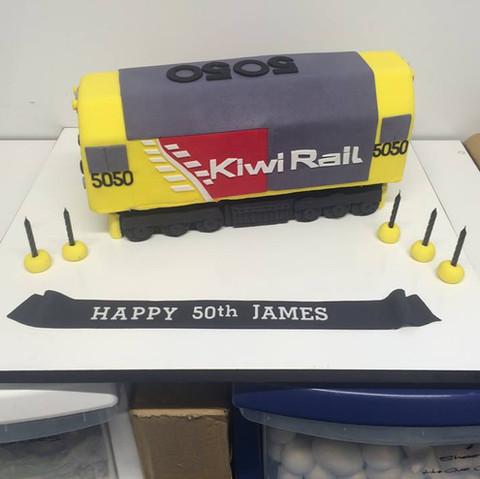 Specialty car cakes by Cakes by Kim, Central Otago  Kiwi Rail Train Cake