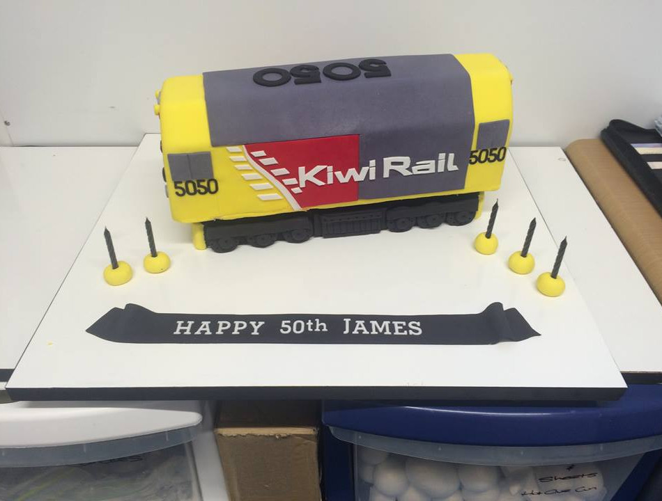 Specialty car cakes by Cakes by Kim, Central Otago  Kiwi Rail Train Cake