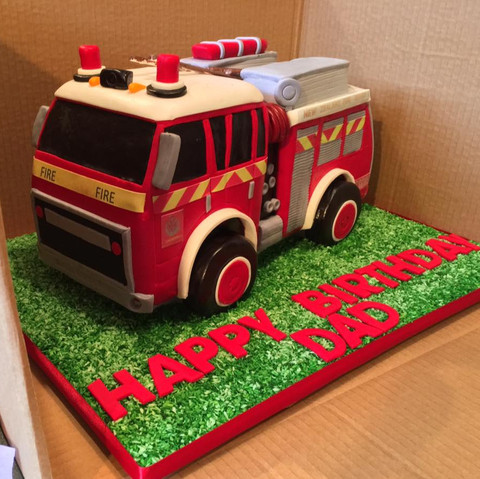 Specialty car cakes by Cakes by Kim, Central Otago  Fire Engine Cake