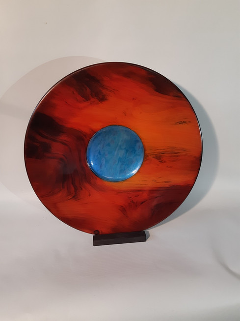 Dyed and Irridescent platter