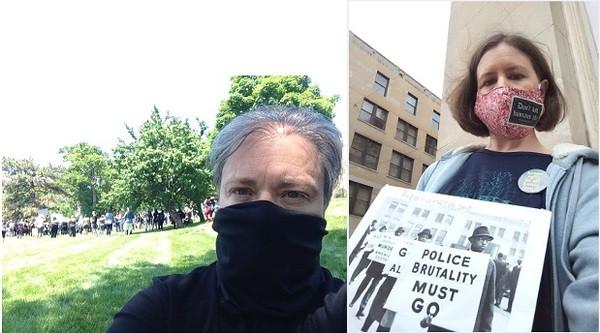 Rachel MacNair and Julia Smucker witness for racial justice