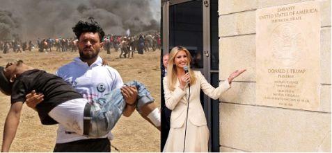 Dead Palestinian & Ivanka Trump at Jerusalem embassy dedication