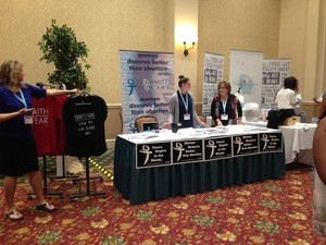 Feminists for Life table at Pro-Life Women's Conference