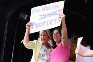 Pro-life demonstrators in Northern Ireland