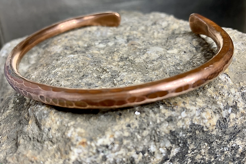 Mens Copper cuff.  Plain Rounded Edge.