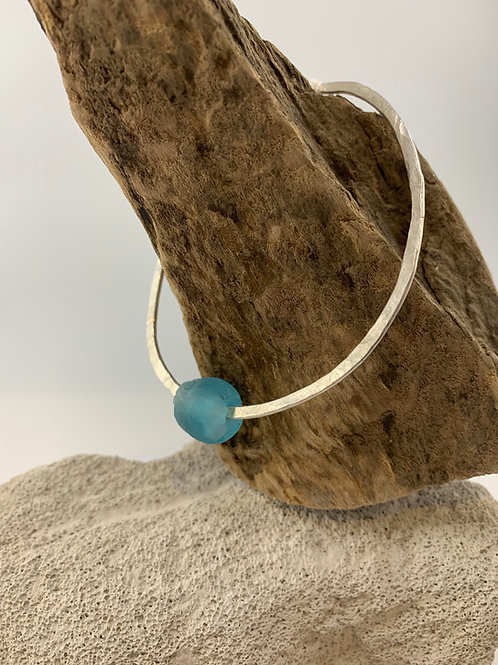 Eco Silver Bottle Bead Bangle