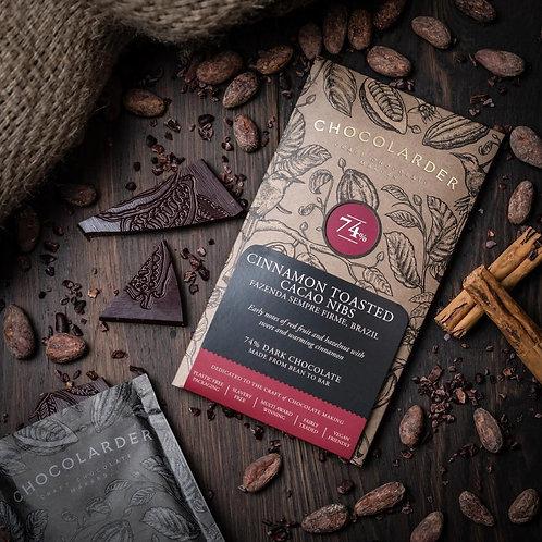 Chocolarder Handmade Cornish Chocolate Cinnamon Toasted Nibs