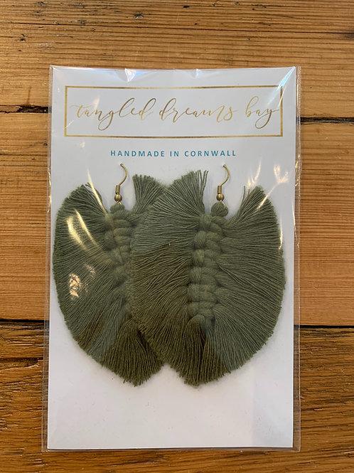 Tangled Dreams Bay Handmade Macrame Earrings