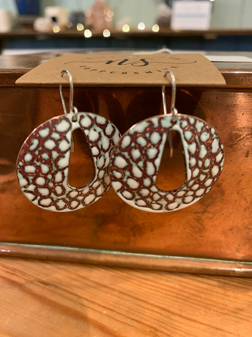 Large Teardrop/ Circles Earrings NS65