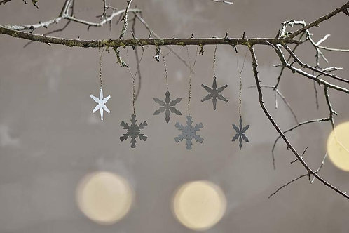 Nkuku Dida Snowflake decorations Set of 3