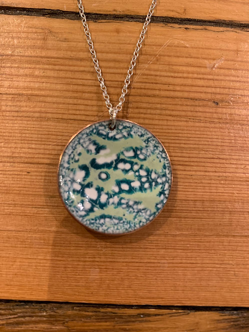 Nicky Sadler Handmade Copper & Enamel Seaspray Pendant NS75