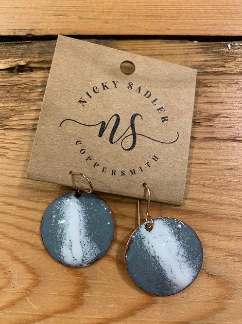 Handmade Copper & Enamel Earrings RESERVED