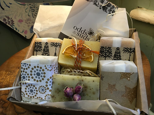 Box of 6 mini Handmade Christmas Soaps