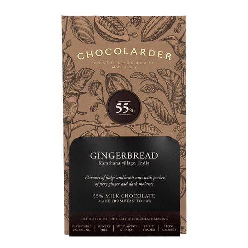Chocolarder Handmade Cornish Gingerbread Chocolate 55% Milk