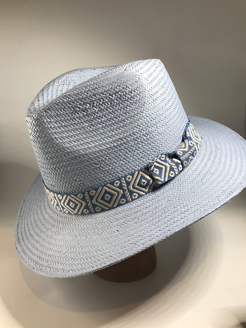 Pale Blue Handmade Fedora Hat