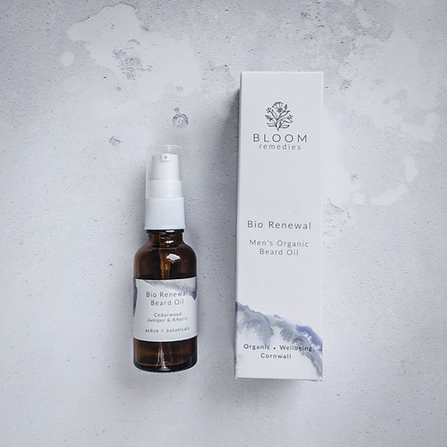 Bloom Remedies Bio Renewal Men's Organic Beard Oil