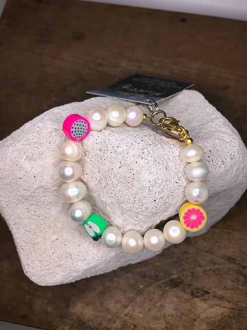 Freshwater Pearl & Juicy Fruits Bracelet