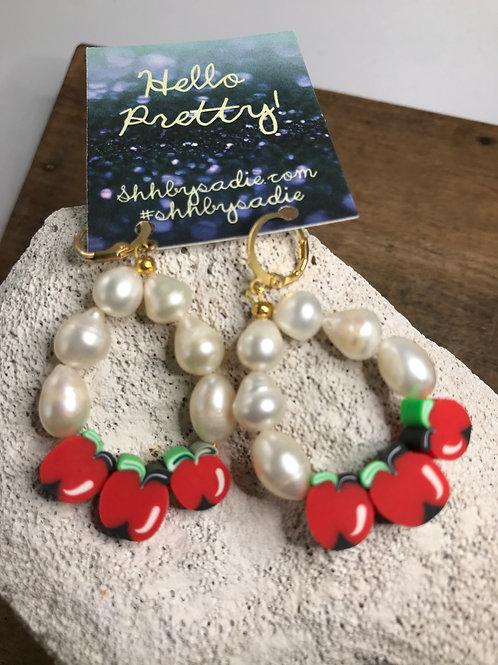 Pearl Fruit Earrings