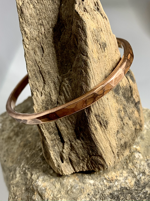 Nicky Sadler Mens Copper Cuff.  Plain Squared Edge