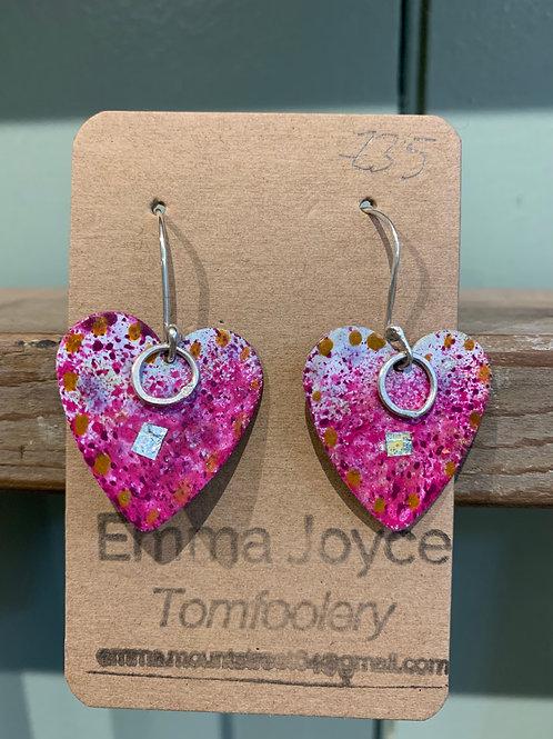 Tomfoolery Heart Earrings