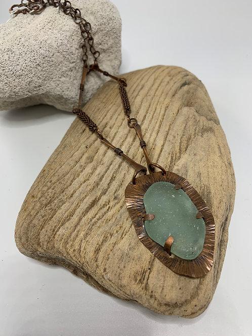 Nicky Sadler Sea Glass & Copper Necklace