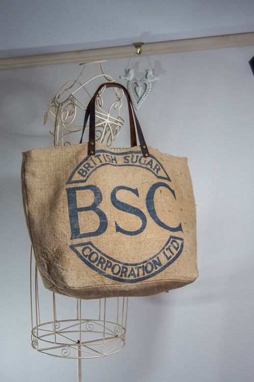 Just7 Upcycled Jute Grain Sack Tote bag