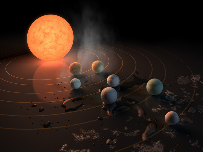 NASA announces discovery of 'entire solar system' that could support life