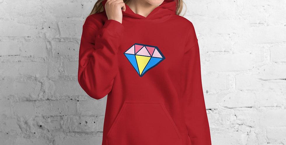 Diamond Red Lady Hoodie