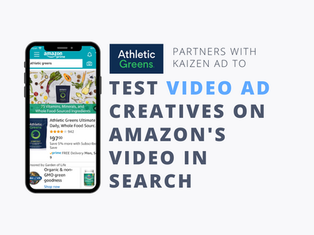 Athletic Greens Partners with Kaizen Ad to run a creative test on Amazon's Video in Search