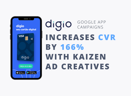 digio sees 166% increase in conversion rate with Kaizen Ad's video ads in Google App Campaigns