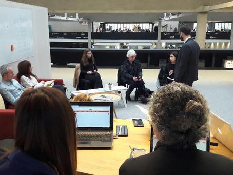 Le panel de futurs utilisateurs de l'ETAP réuni à Station F pour le dernier atelier !