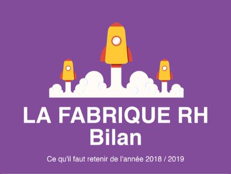 Bilan 2018/2019 de La Fabrique RH