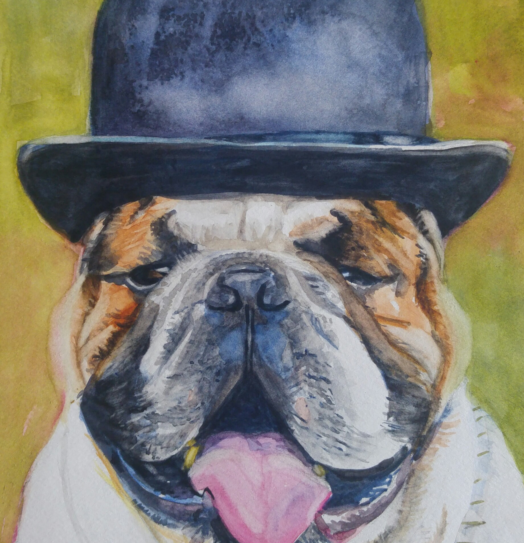"Bully, watercolor 9"" x 12"""