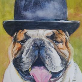 "Bully, watercolor 9"" x 12"""