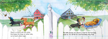 Children's book illustration spread