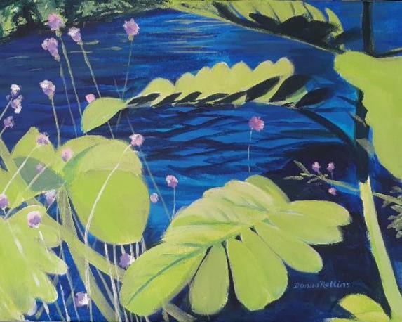"""Pond 20"""" x 16"""" acrylic on canvas"""