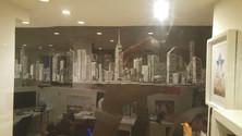 Chalkboard art NYC PR agency, 10 ft x 20 ft