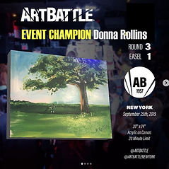 NYC Art Battle Champion, Art Battle Winner, Art Battle Winners, Award Winning Artist