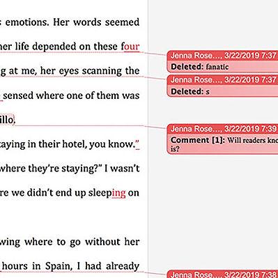 Tekstrettelser i et Word-dokument