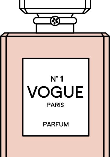 VOGUE Perfume Bottle Tag