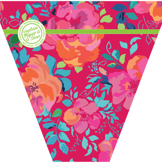 Brighter Floral veg paper sleeve