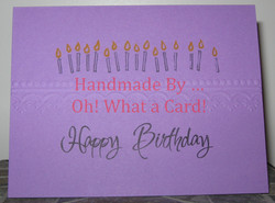 Happy Birthday Candles - Purple Card