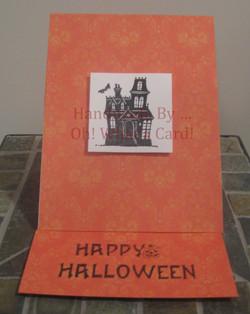 Haunted Mansion Mantle Display Card