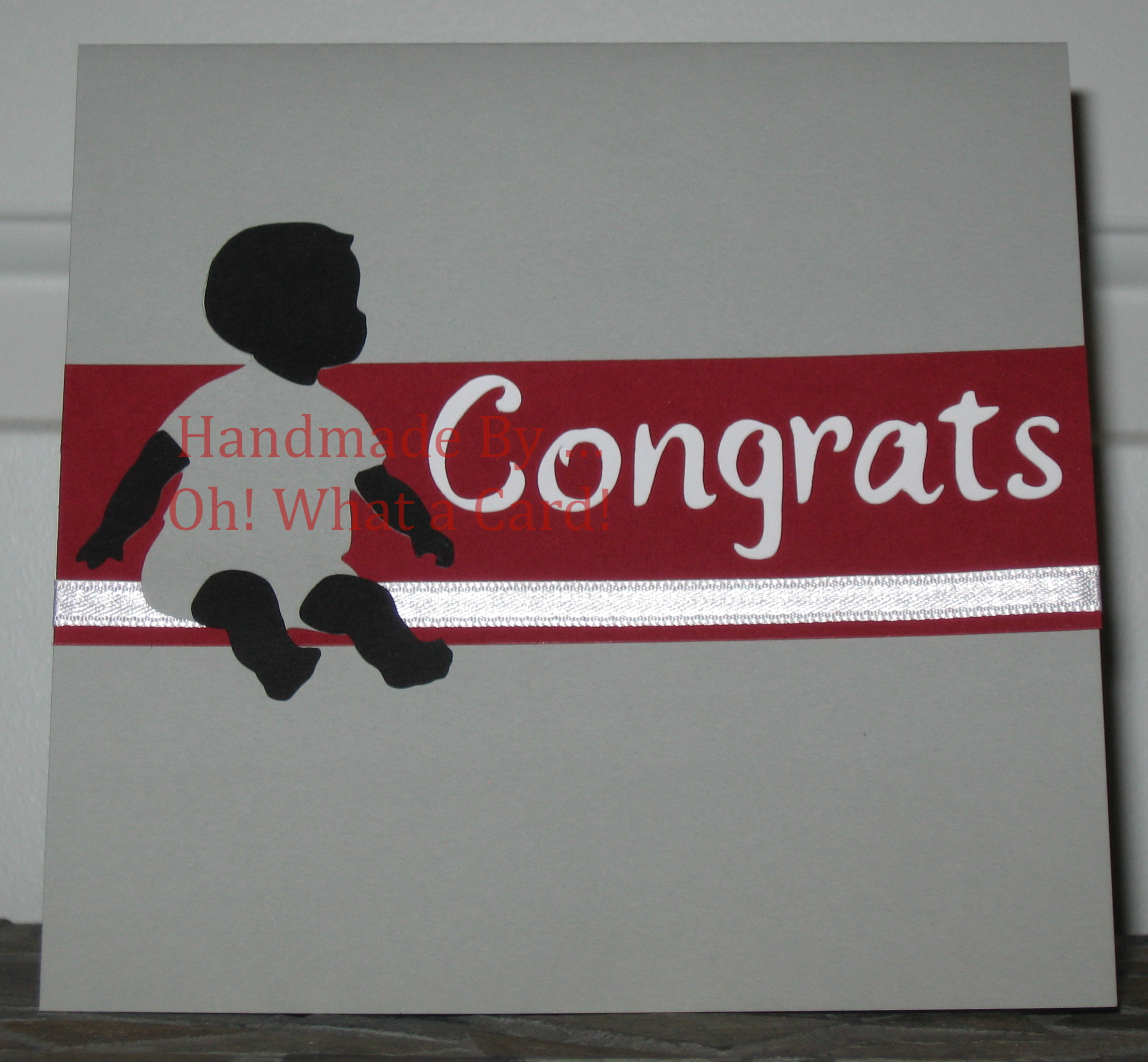 Baby - Congrats - Grey / Red