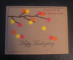 Thanks a Leaf Card