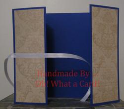 Golden Blue Victorian Shutter-Fold Card