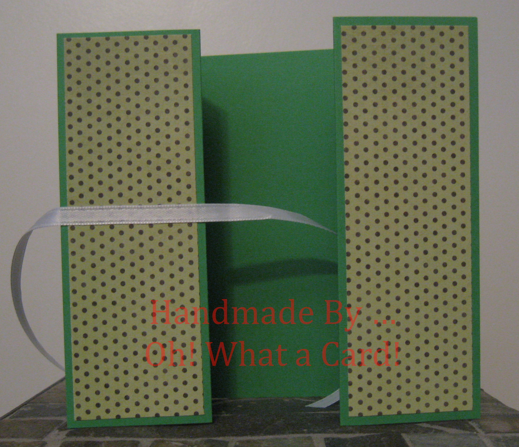 Green Polka Dots Shutter-Fold Card
