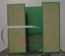 Green Polka Dots Shutter-Fold Card